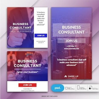 Business marketing social media banner template