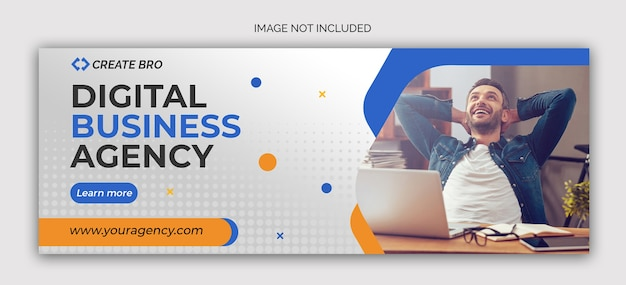 Business marketing social media post banner template