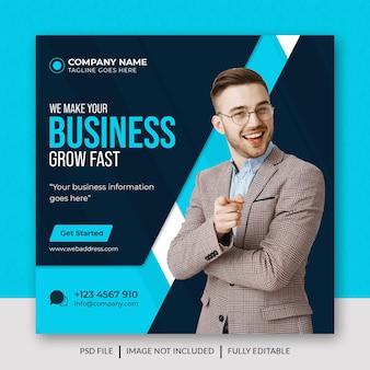Business marketing social media post facebook post  web banner premium template