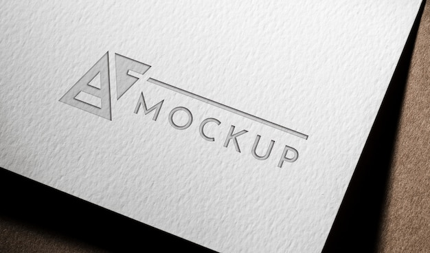 Business mock-up card on coarse paper