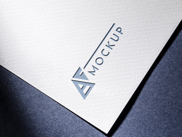 Business mock-up card with textured surface paper