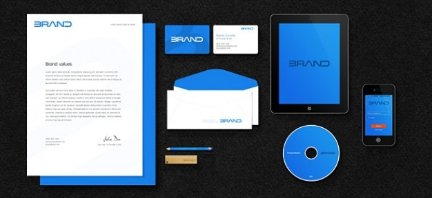 Business mockup psd material