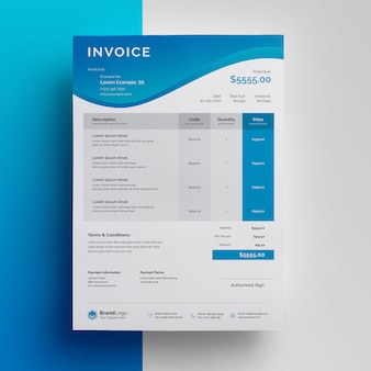 Business modern invoice template