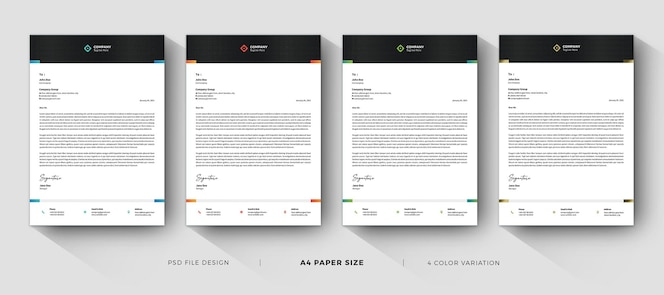 business modern letterhead professional templates
