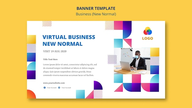 Business new normal banner template