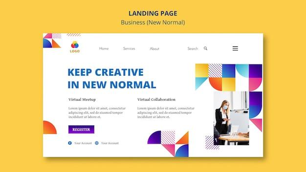 Бизнес-концепция новой нормальной целевой страницы