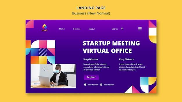 Business nuovo normale design della pagina di destinazione