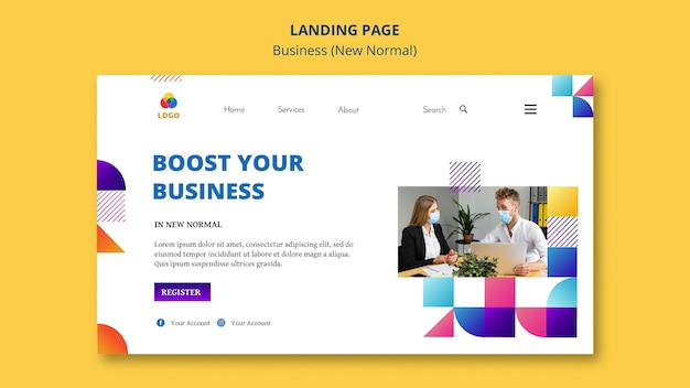 Business new normal landing page