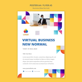 Business new normal poster design