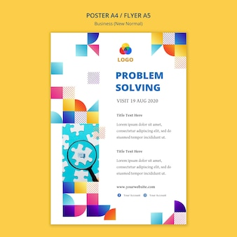 Бизнес новый нормальный дизайн шаблона плаката
