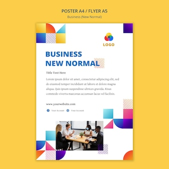 Business new normal poster template