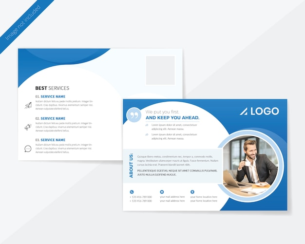 Business post card design