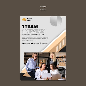 Business poster a4 template with photo