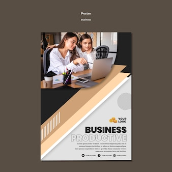 Business poster a4 template