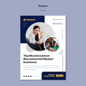 Modello di poster aziendale