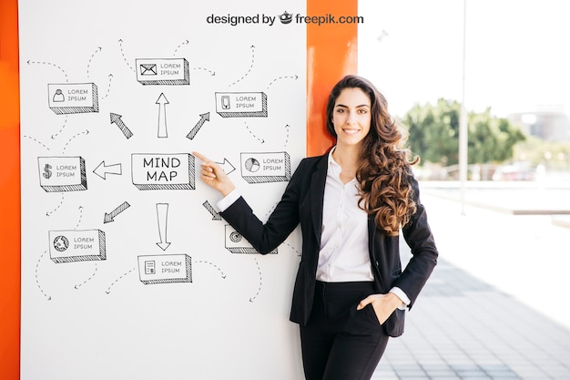 Business presentation mockup