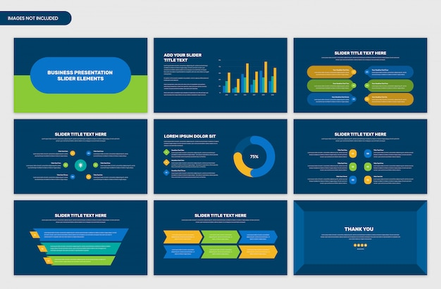 Business presentation slider infographic elements