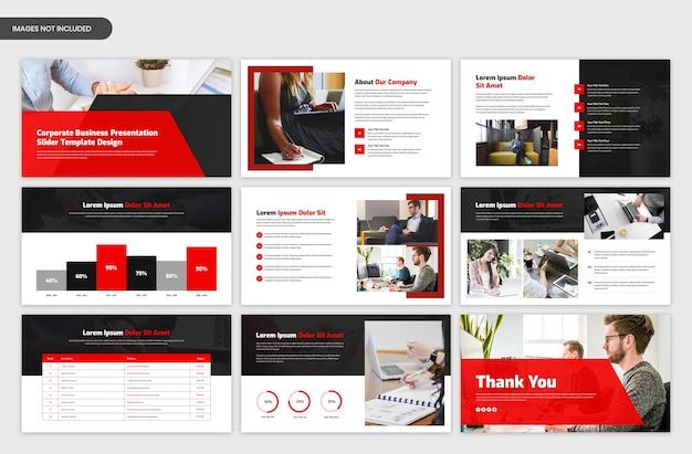 Шаблон слайдера бизнес-презентации