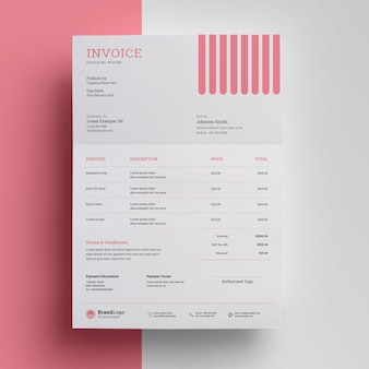 Business professional invoice template