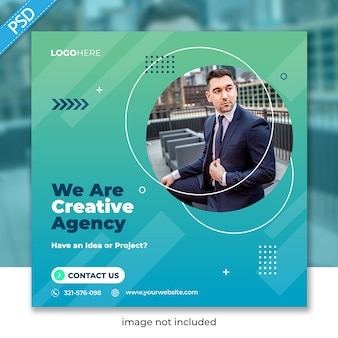 Бизнес продвижение и корпоративные для социальных медиа instagram пост баннер шаблон