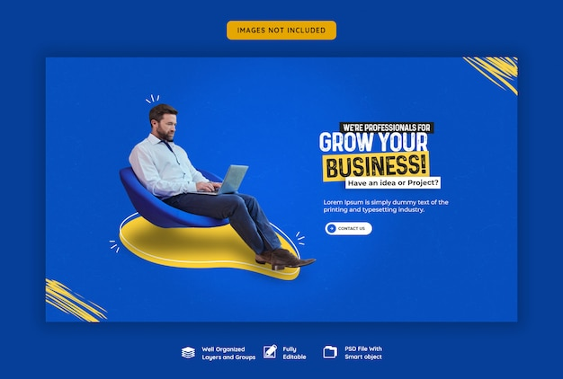 사업 추진 및 기업 웹 배너 템플릿