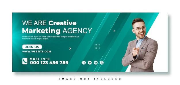 ビジネスプロモーションとクリエイティブマーケティングエージェンシーのfacebookカバー