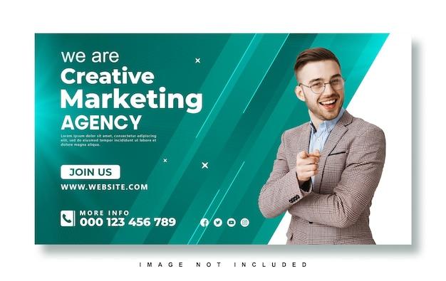 ビジネスプロモーションとクリエイティブマーケティングエージェンシーのウェブバナー