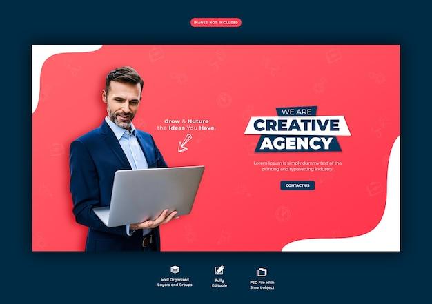 Продвижение бизнеса и креативный шаблон веб-баннера