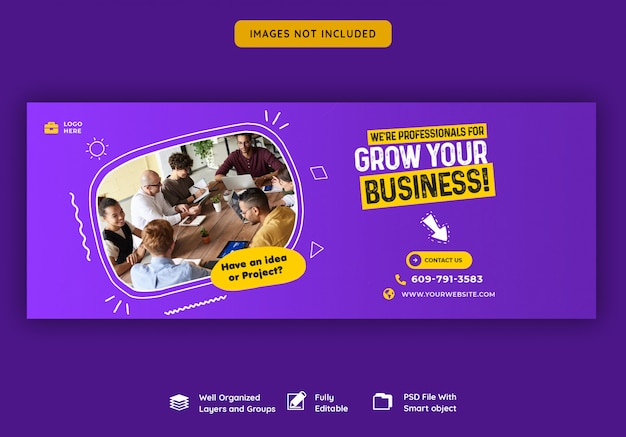 Business promotion and corporate facebook cover template