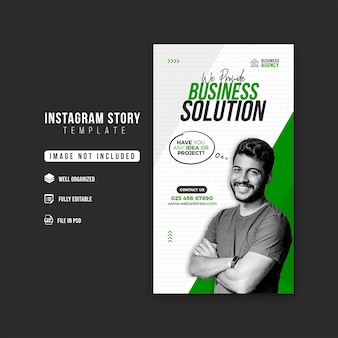 Business promotion and corporate instagram story design template