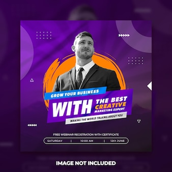 Business promotion and corporate marketing agency social media banner template free psd