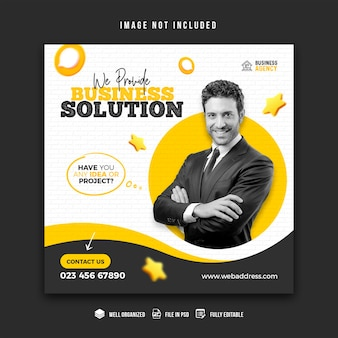 Business promotion and corporate social media banner design template
