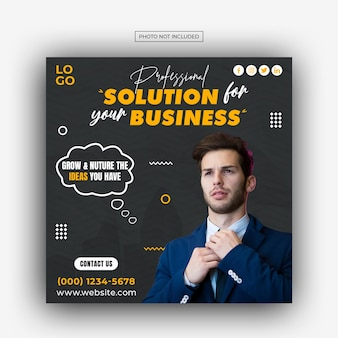 Business promotion and corporate social media banner template design