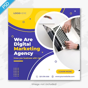Business promotion and corporate for social media instagram post banner template