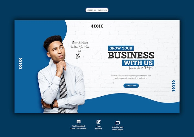 Business promotion and corporate web banner template