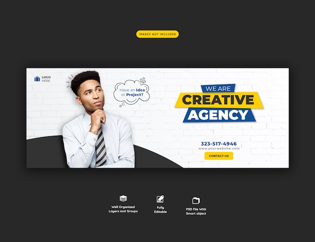 Business promotion and creative facebook cover template