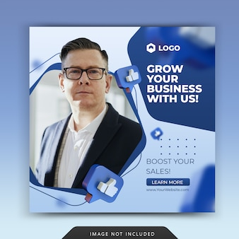 ソーシャルメディアのビジネスプロモーション-instagram postテンプレート