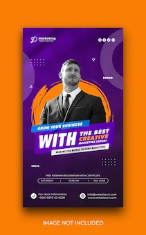 Business promotion instagram story and corporate social media banner template free psd