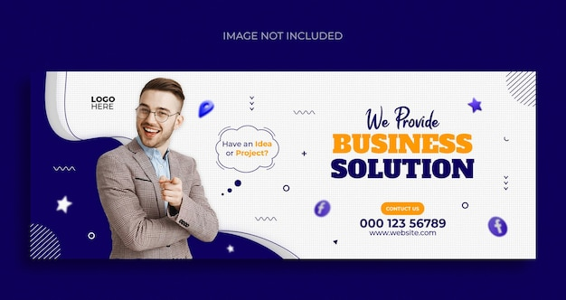 Продвижение бизнеса в социальных сетях, веб-баннер, флаер и шаблон оформления обложки facebook