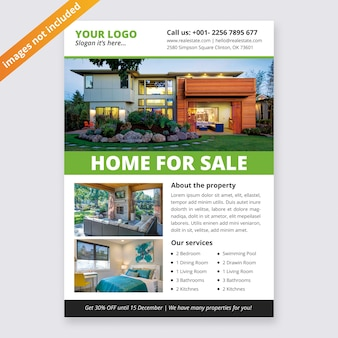 Business real estate flyer design template