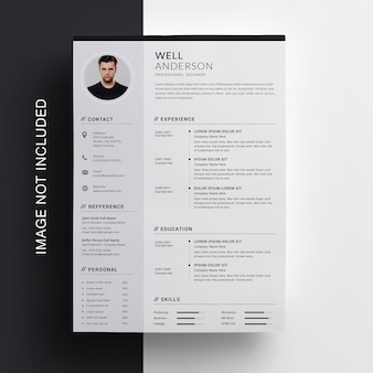 Business resume design with sidebar