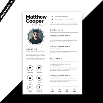 Business resume template