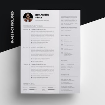 Business resume  with sidebar