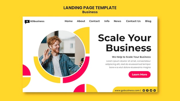 Business scale landing page template