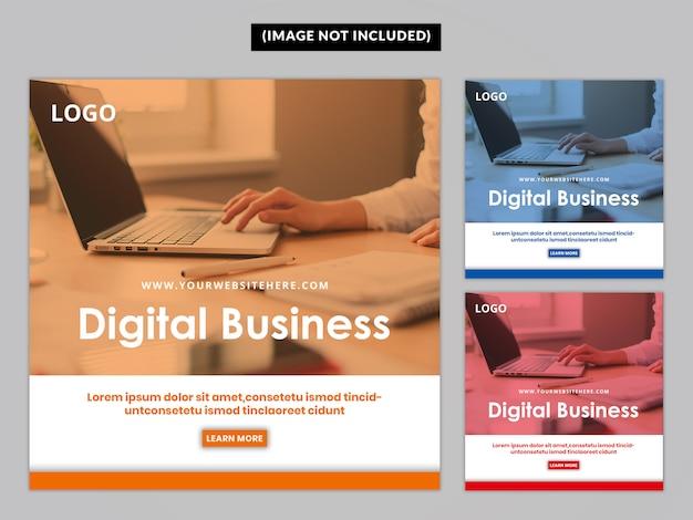 Business social media post template premium