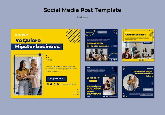 Business social media post template