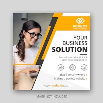 Business social media post template