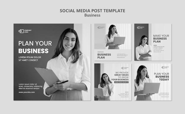 비즈니스 소셜 미디어 게시물