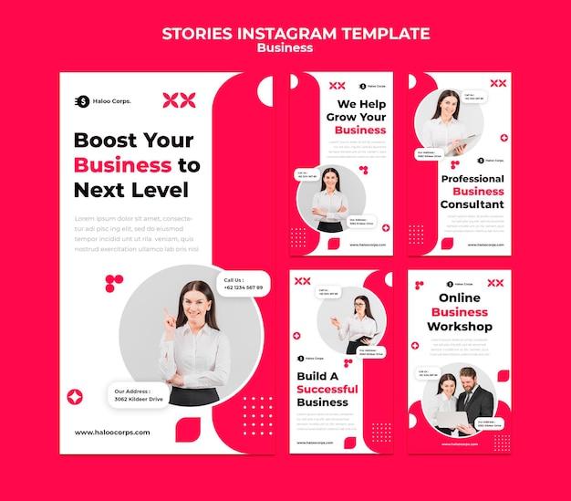 Business social media stories