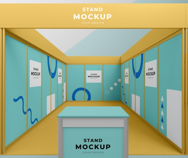 Business stand and booth mock-up